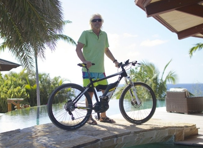 Richard Branson Scott Electric Bike