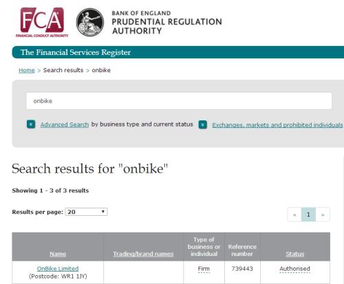 FCA Register