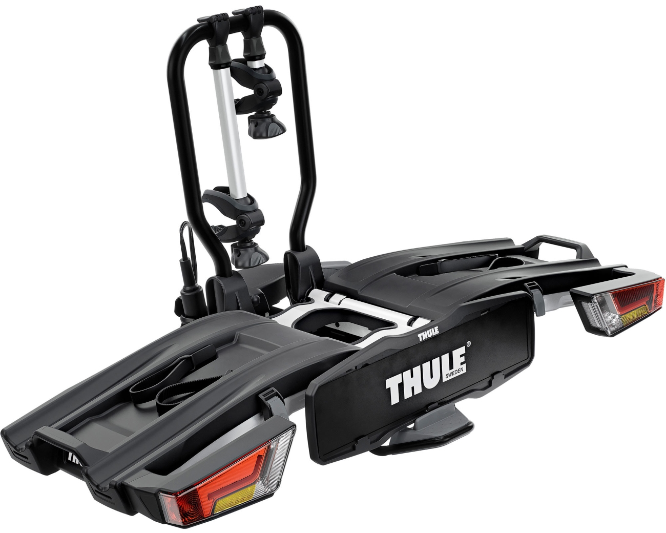 thule easyfold xt 2 933 folding e bike carrier for towbars